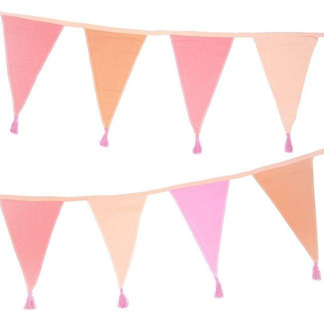 Talking Tables - We Heart Birthdays Pink Fabric Bunting