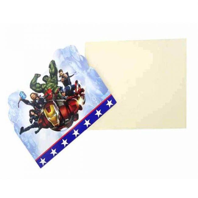 Tamona - 10-Pieces Avengers Printed Invitation Paper Card