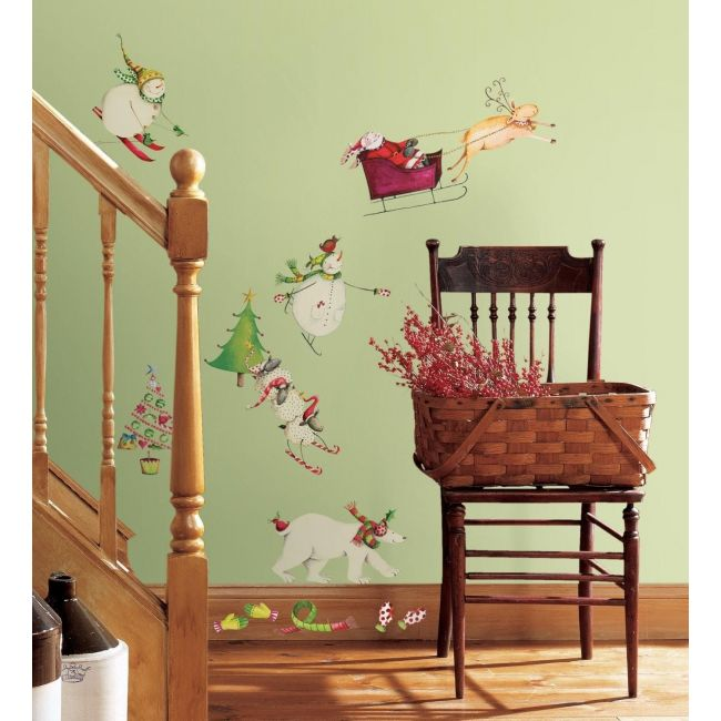 RoomMates Winter Holiday Wall Decal