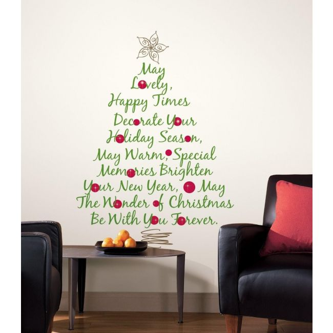 RoomMates Christmas Tree Quote Giant Wall Decal