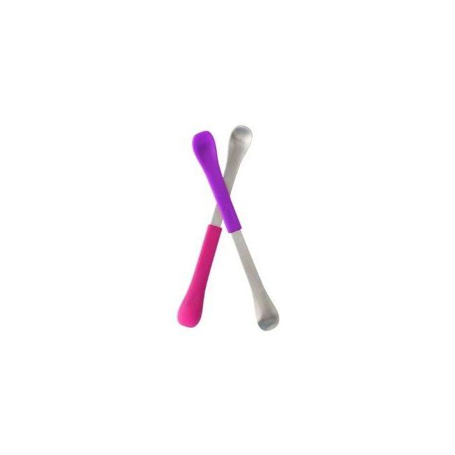 Boon Pink & Purple Swap 2 in 1 Feeding Spoon