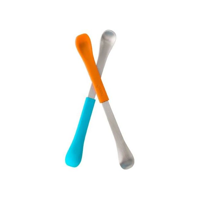 Boon Orange/Blue Swap 2 Count 2 in 1 Feeding Spoon
