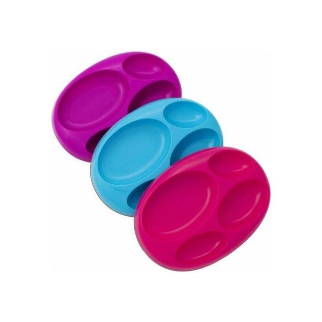 Boon - Platter Edgeless Stayput Divider Bowl - 3 Pack