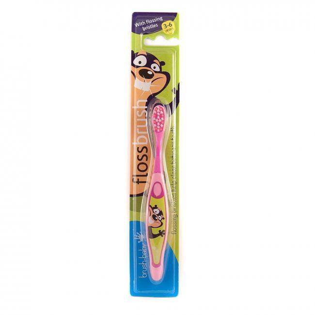 Brush Baby - Floss Brush - Pink