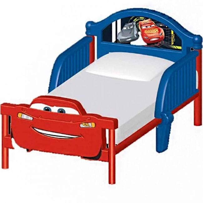 Delta Children - Cars Plastic 3D Toddler Bed