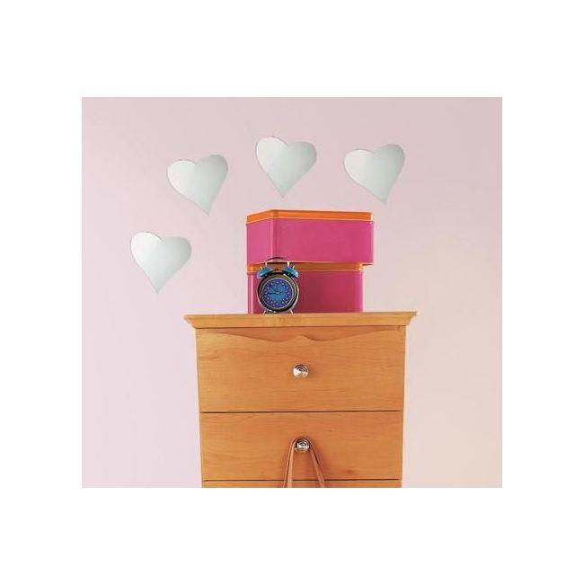 RoomMates Heart Peel & Stick Mirrors (4 Pack)