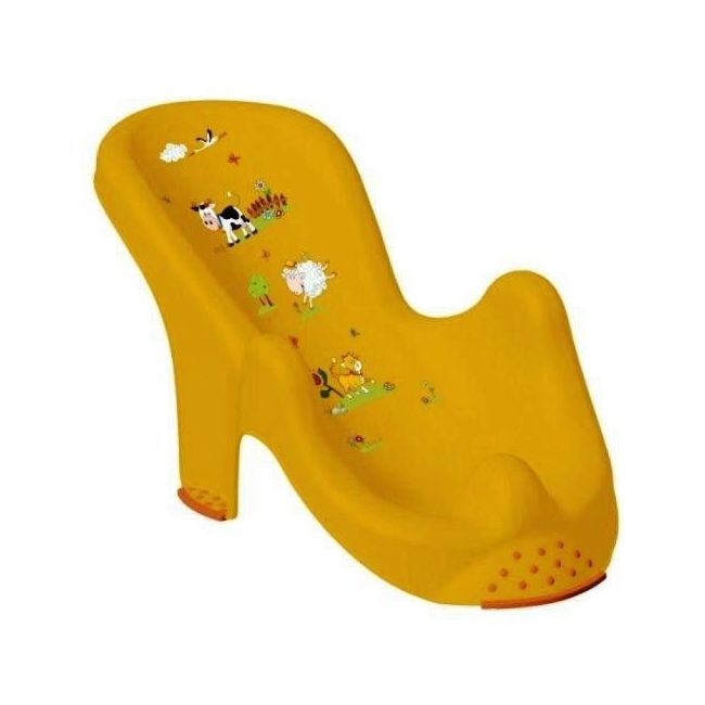 OKT Funny Farm Yellow Anatomic Baby Bath Chair - Sunny Apricot