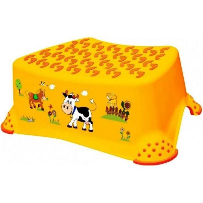 OKT Funny Farm Yellow Step Stool