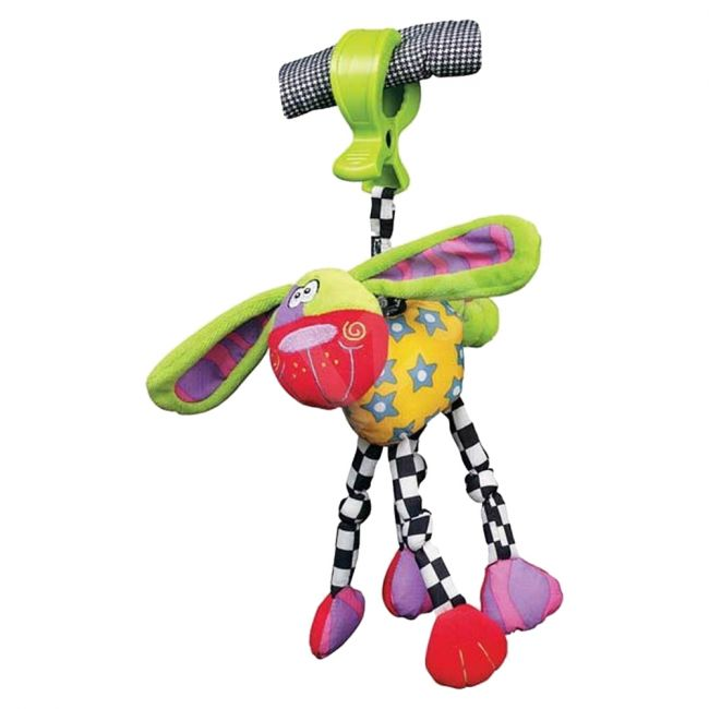 Playgro Zany Zoo Wonky Wiggler - Dog, Stroller/Carseat Toy