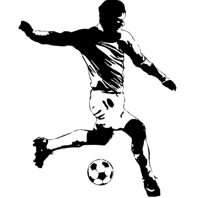 Room Mates Soccer Player Giant Applique