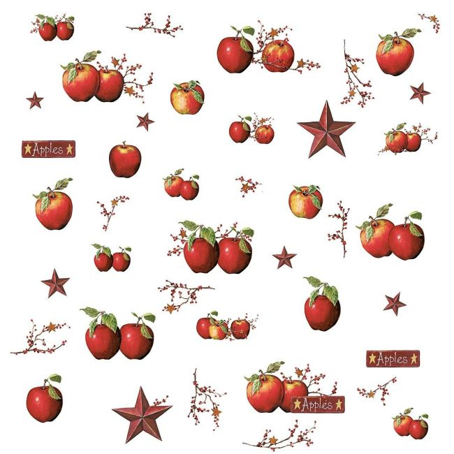 Room mates Country Apples Peel & Stick Wall Decals