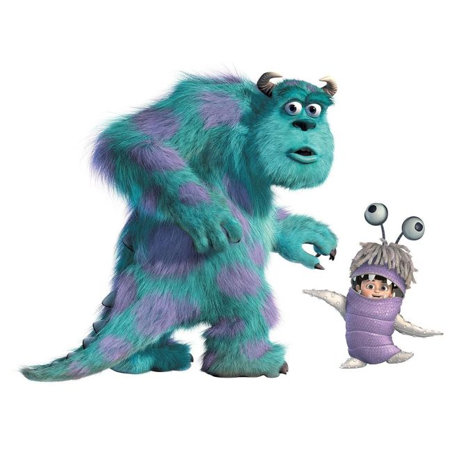 Room mates Monsters, Inc- Sulley & Boo Giant Wall Decals