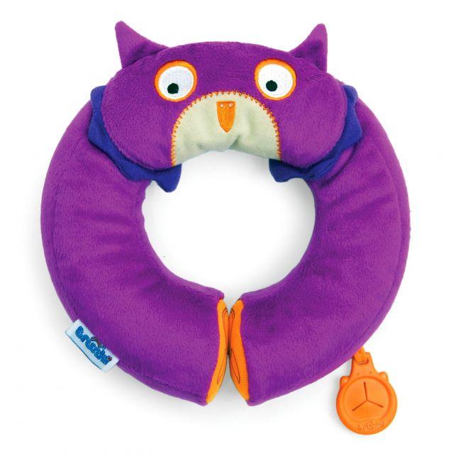 Trunki Yondi Purple Owl Neck Roll Cushion