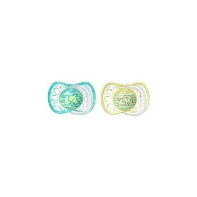 Tommee Tippee Yellow&Green Essentials Soft Rim 6-18m, 2Pcs
