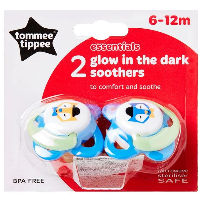 Tommee Tippee Blue Soother Silicon Orthodontic 6-12m, 2Pc