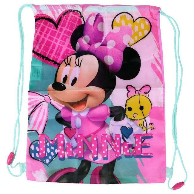 Disney - Minnie Mouse Drawstring Bag /Shoe Bag Rucksack For Kids