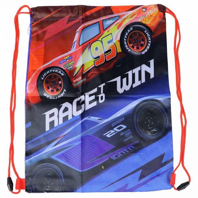 Disney - Cars Drawstring Bag /Shoe Bag Rucksack For Kids