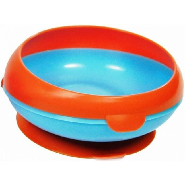 The First Years Orange/Blue Inside Scoop Kid's Suction Bowl