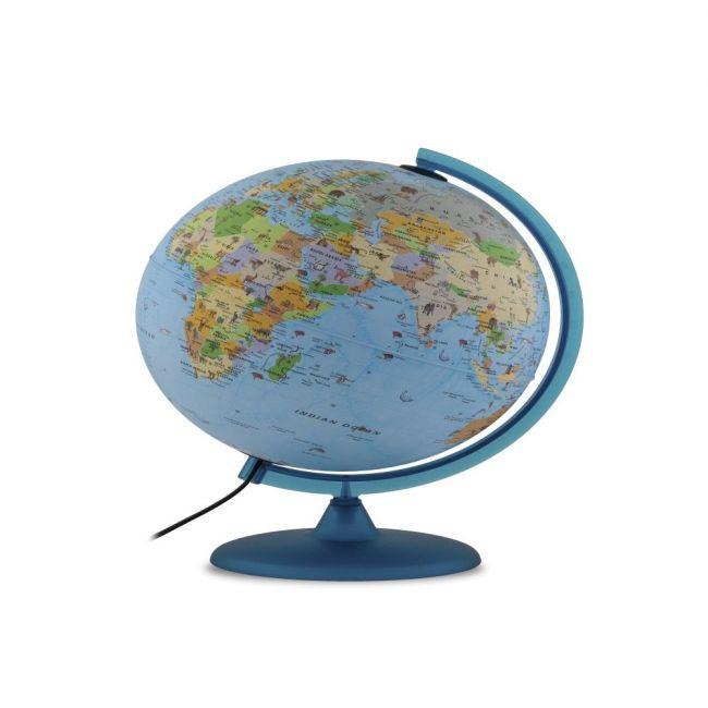 "Tecnodidattica - Babylon Illuminated And Revolving Globe 30"" - 38Cm Diameter - Blue"