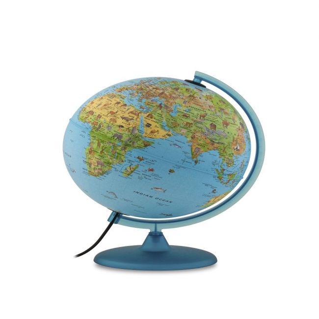 "Tecnodidattica - Safari Illuminated And Revolving Globe 30"" - 38Cm Diameter - Blue"