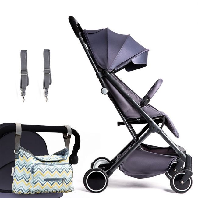 Teknum Travel Lite Stroller Sld Dark Grey with Sunveno Diaper Bag