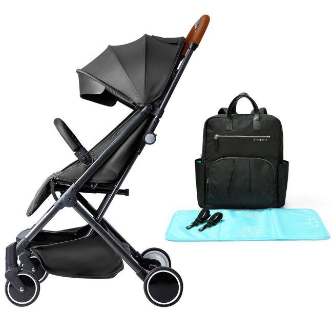 Teknum - SLD Stroller Manhattan Diaper Bag Bundle - Black