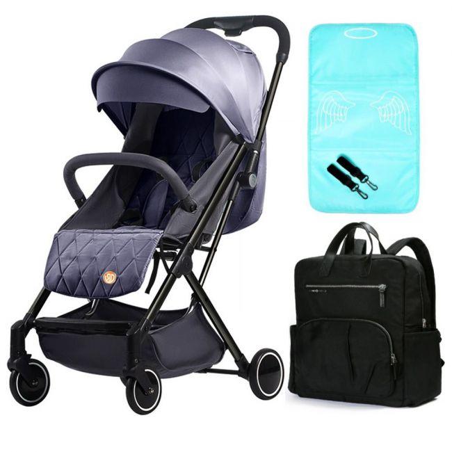 Teknum - SLD Stroller Manhattan Diaper Bag Bundle - Grey