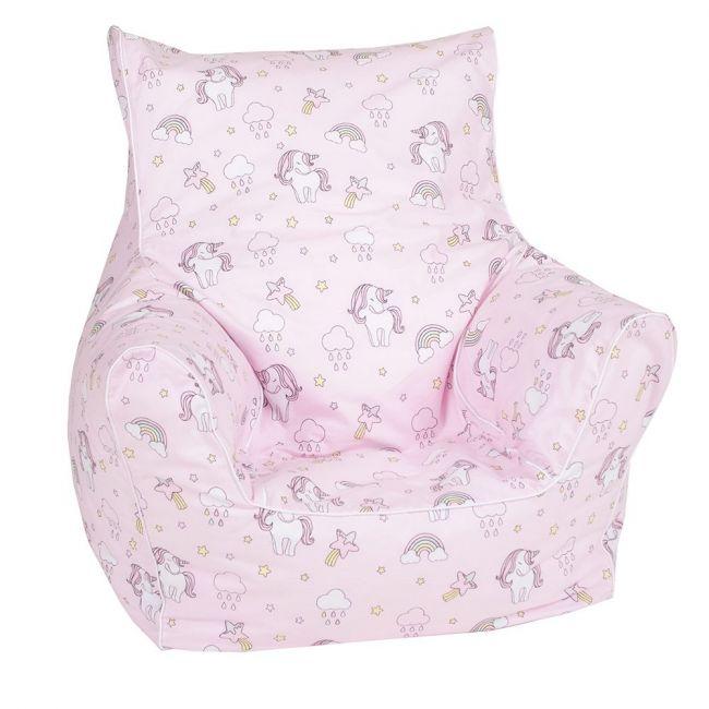 Delsit - Bean Chair Pink - Unicorns