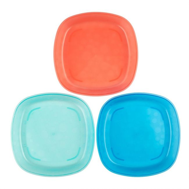 DrBrowns - Toddler Plates, 3-Pack