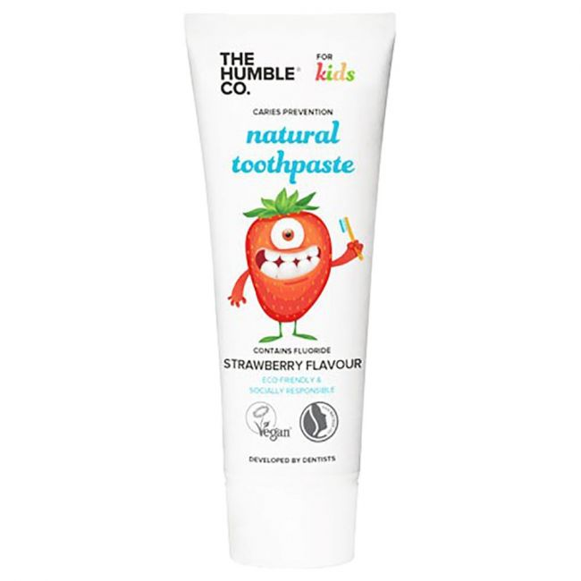 The Humble - Co Natural Toothpaste  Kids Strawberry With Fluoride 75 Ml