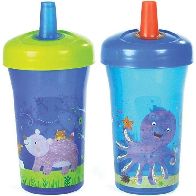 The First Years Blue Non-Insulated Slimline Straw Cup