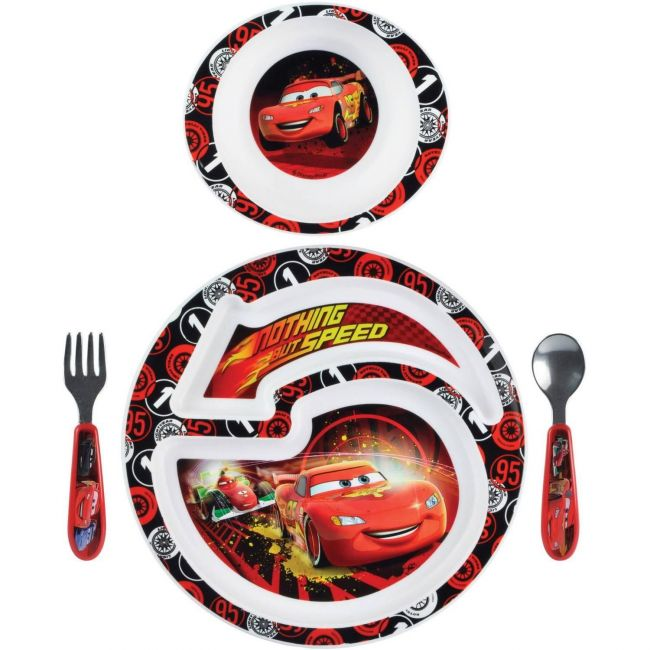 The First Years Cars 4 pc feeding set