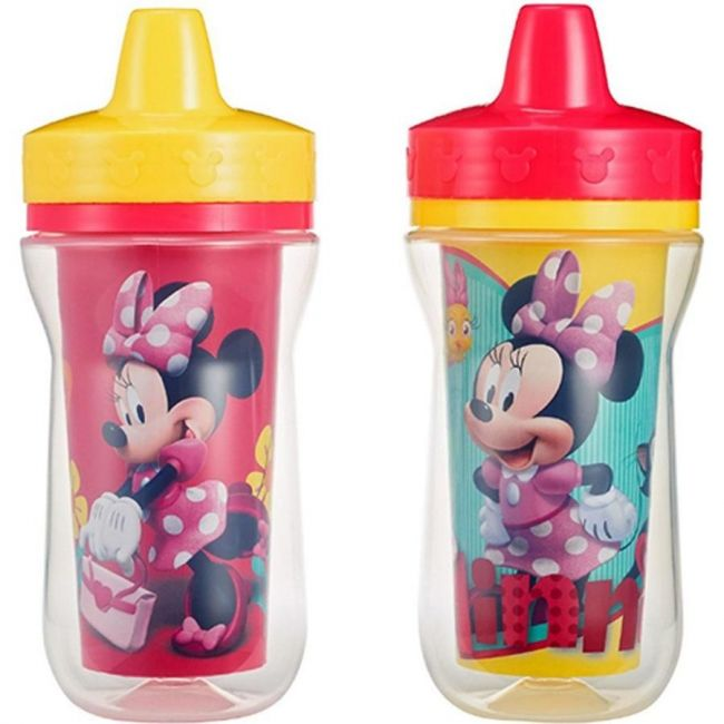 The First Years Minnie Insulated 9oz Sippy Cups - 2pcs