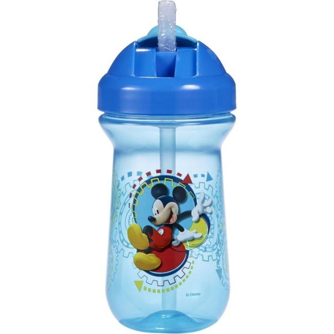 The First Years Red Mickey Mouse 10 Oz- Flip-Top Straw Cup