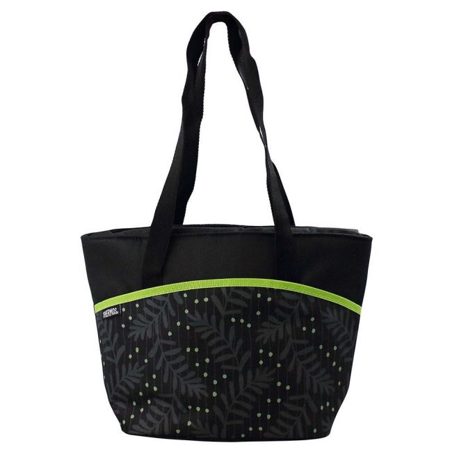 Thermos Raya-9 Can Lunch Tote-Green Dot