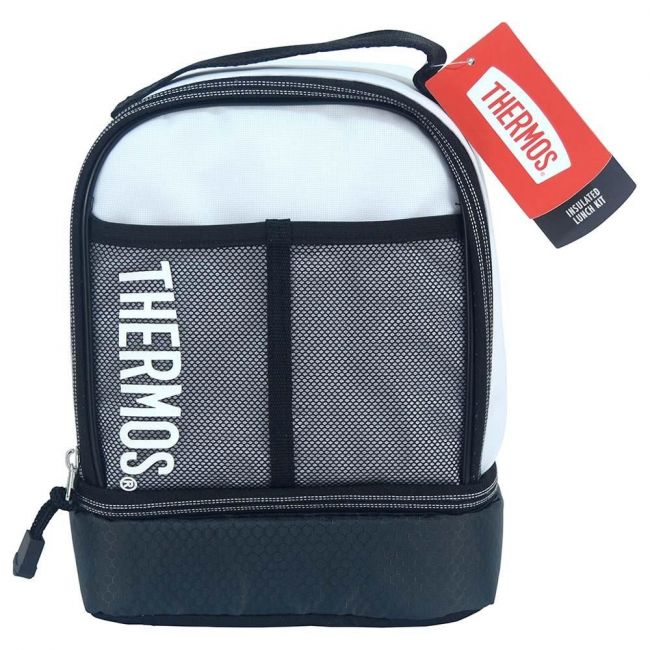 Thermos Sport Mesh  Dual Lunch Kit -White Tpu Coated