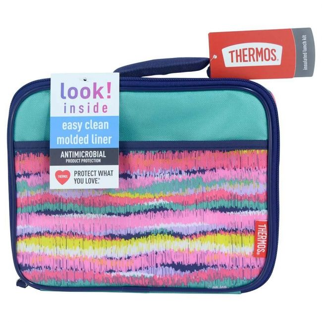 Thermos Standard Lunch Kit With Ldpe Liner-Ikat Stripes Girls