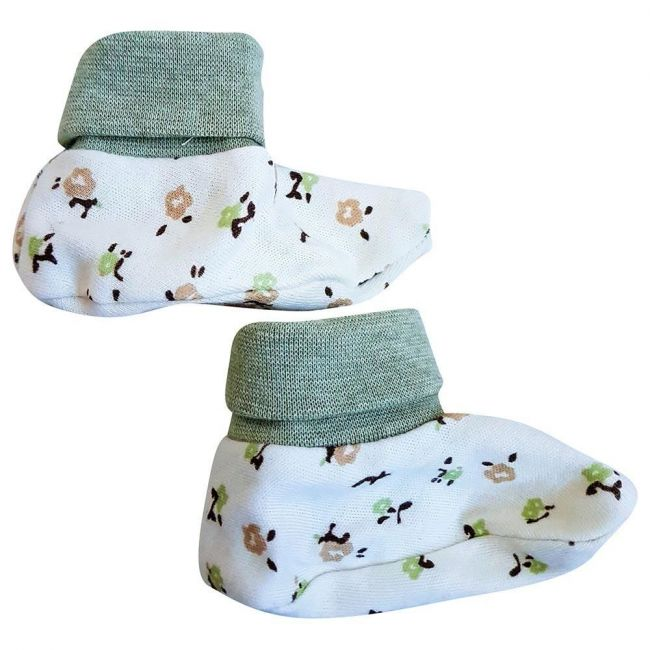 Tickle Tickle - Flower Power Booties Green Free Size