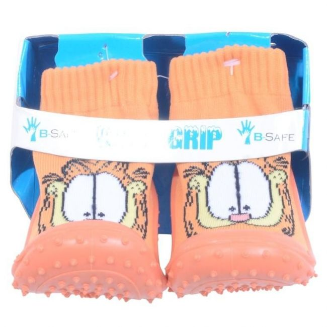Cool Grip Orange Baby Shoe Socks Garfield