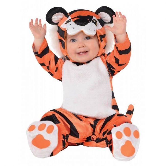 Tiny Tiger Costume Includes Jumpsuit Hood Booties