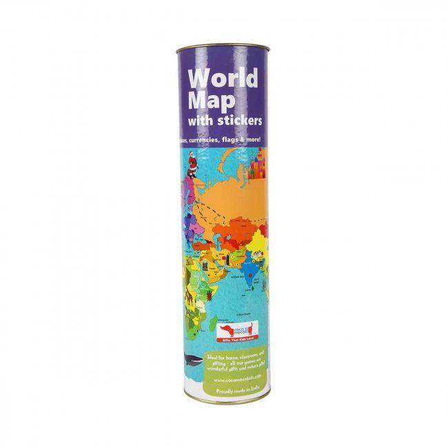 Cocomoco kids - Interactive World Map Kit