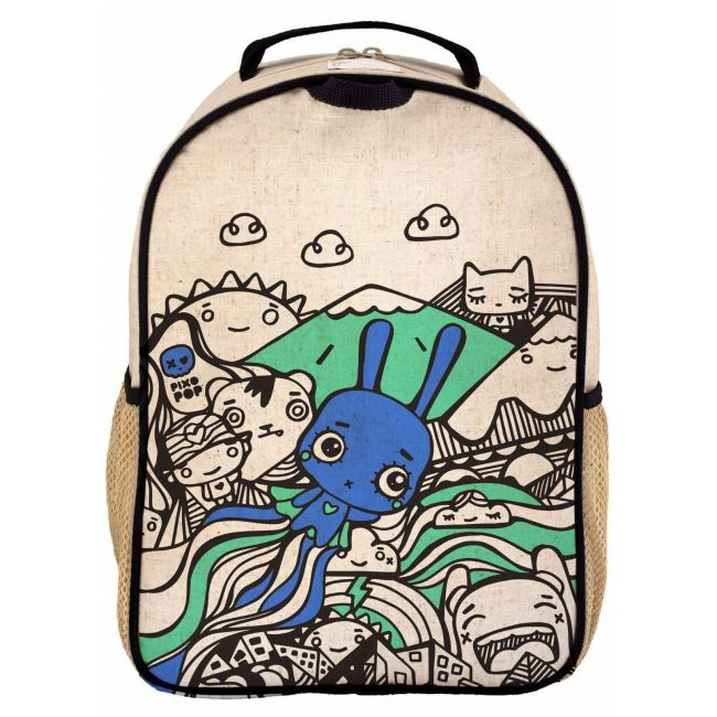 SoYoung Raw Linen Pixopop Flying Stitch Bunny Grade School Backpack
