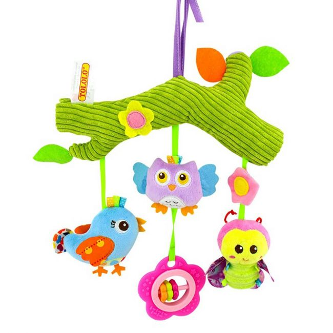 Tololo - Baby Rattle Toys For Infant Soft Plush Stuffed Hanging Toy Green