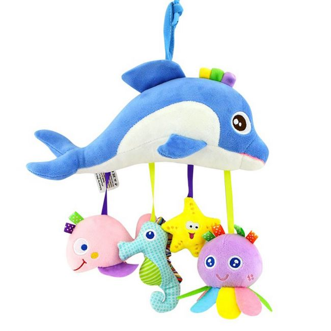 Tololo - Baby Rattle Toys For Infant Soft Plush Stuffed Hanging Toy T168069-3B