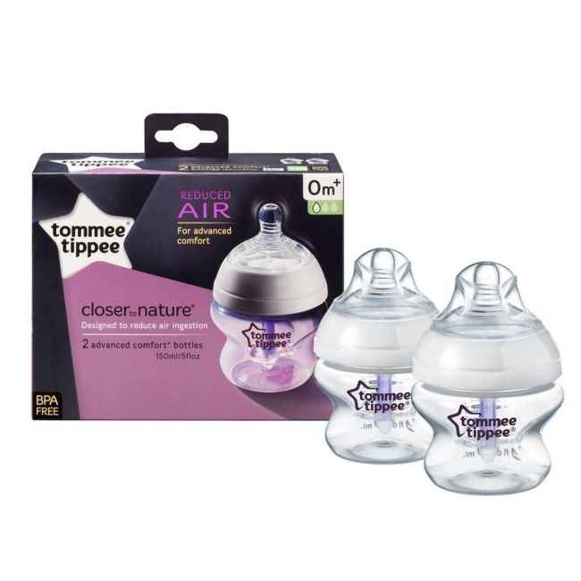 Tommee Tippee Advanced Anti-Colic 2 X 150Ml Slow Teat