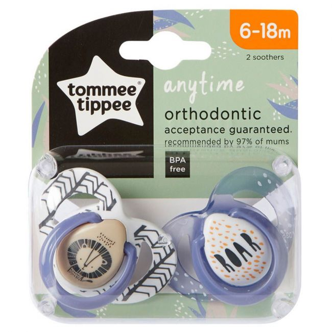 Tommee Tippee - Closer To Nature Everyday 6 18M Soother Lion