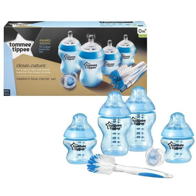 Tommee Tippee - Closer to Nature Feeding Bottle Kit - Blue