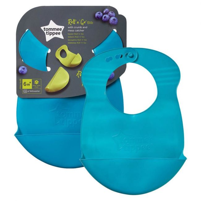 Tommee Tippee - Explora Roll And Go Bib Teal