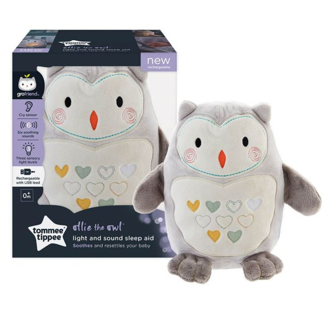 Tommee Tippee - Ollie The Owl Rechargeable Light And Sound Sleep Aid