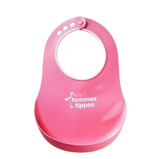 Tommee Tippee Essentials Pink Comfi Neck Catch All Bib